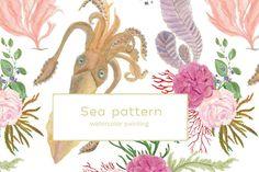 Sea patterns by ramika on @creativemarket