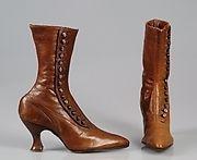 Brunette Close fetish leather boots