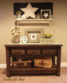 COUNTRY GIRL HOME: sofa table tutorial. SO cute