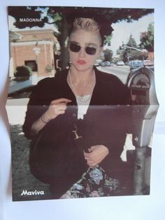 Madonna Don Johnson Mini Poster Greek Magazines clippings 80s 90s | eBay