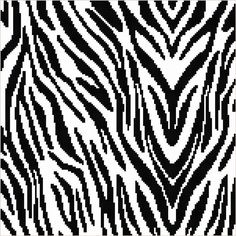 (4) Name: 'Crocheting : Zebra Print Graphghan Pattern