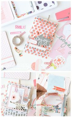 mini tag album ~ project life heidi swapp (on today) Mini Album Scrap, Mini Albums Scrapbook, Pocket Scrapbooking, Scrapbook Pages, Scrapbook Journal, Project Life Layouts, Project Life Cards, Planners, Heidi Swapp