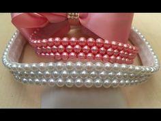 Como bordar pérolas no elástico - Jeito fácil e rápido - DIY Beads Headband - YouTube
