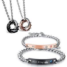Flongo 2 Paar Halskette Armband Set, Edelstahl Armband Ar... https://www.amazon.de/dp/B077ZQ1WH2/ref=cm_sw_r_pi_dp_U_x_BqinAb7T7HC29