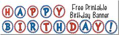 Free printable Happy Birthday Cut Out Banner