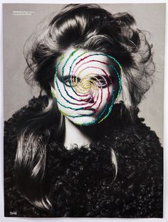 Embroidery over head portraits by Jose Romussi