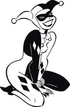 Excited to share this item from my shop: Harley Quinn permanent vinyl window decal bumper sticker Harley Quinn Tattoo, Harley Quinn Drawing, Joker And Harley Quinn, Joker Stencil, Stencil Art, Stencils, Dark Art Drawings, Easy Drawings, Wall Stickers Home Decor