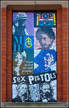 Manchester Mosaic outside Afflecks Palace Manchester Love, Manchester Street, Manchester City Centre, Bolton England, City Tattoo, Tattoo Shop, Architecture Concept Drawings, Football Ticket, Northern England