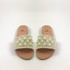 Handmade leather Sandals with crochet details– Urban Queen – Official Site Handmade Leather, Leather Sandals, Spring Summer, Urban, Queen, Detail, Crochet, Shoes, Fashion