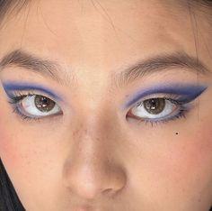 Cute Makeup Looks, Makeup Eye Looks, Eye Makeup Art, Creative Makeup Looks, Pretty Makeup, Skin Makeup, Asian Eye Makeup, Edgy Makeup, Makeup Goals
