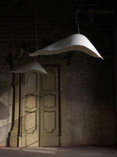 Lighting - Pendant Lighting - Moby dick Pendant - Indoor - L 90 x H 30 cm by Karman - White - Fibreglass Verre Design, Lamp Design, Custom Lighting, Lighting Design, Suspension Diy Luminaire, Pendant Lamp, Pendant Lighting, Chandelier, Unique Lamps