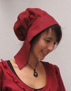 KOSTÜMTRUHE | Verkauf & Versandhandel, mittelalterliche Kleidung, Kostüme & Gewandungen, Zubehör aus Ritterzeit und Piratentum - Mittelalterhaube Leinen