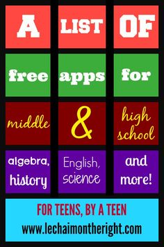 Free Apps For Middle and High School || Le Chaim (on the right)