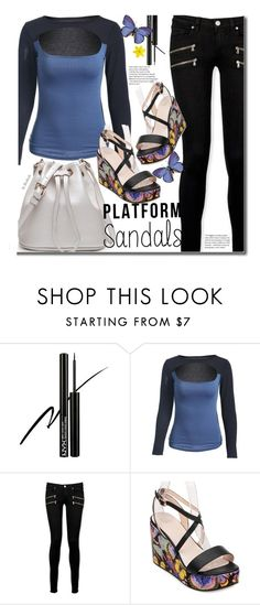 """""""Stand Up! Platform Sandals"""" by beebeely-look ❤ liked on Polyvore featuring NYX, Paige Denim, StreetStyle, platforms, streetwear and twinkledeals"""
