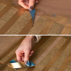 Maker Crate - Burlap and Gold Table Runner or use any paint color! Walmart has burlap rolls