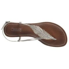 Have to have these, they match the earrings, necklace and ring I got from the boys and Eric last birthday!  CARLOS BY CARLOS SANTANA Women's Tandy Sandal