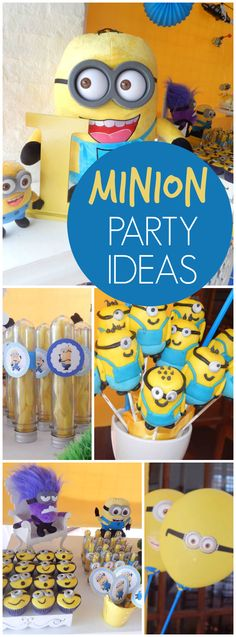 How fun is this Despicable Me Minion birthday party?! See more party ideas at CatchMyParty.com! Minion Baby, Minion Birthday, Farm Birthday, 3rd Birthday Parties, Birthday Party Decorations, Birthday Ideas, Minions 2014, Despicable Me Party, Party Activities