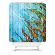 DENY Designs Home Accessories | Rosie Brown Sea Sculptures Shower Curtain #shower #curtain #homedecor #denydesigns #art #watercolor #abstract #sea #bath #bathroom
