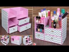 Space Saving - Best Out Of Waste Idea Stay tuned with us for more quality diy art and craft v. Diy Crafts Hacks, Diy Crafts For Gifts, Diy Home Crafts, Diy Arts And Crafts, Diy Cardboard Furniture, Cardboard Box Crafts, Diy Karton, Cardboard Organizer, Desk Organization Diy