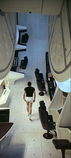 Round interior in the front end of the Jupiter ship - 2001: A Space Odyssey