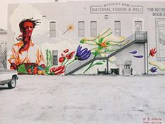 Mural concept, downtown Laramie, Wyoming. Design by Talal Cocker.