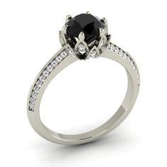 1 38 Ct Natural Amethyst SI Diamond In White Gold Engagement Ring Black Diamond Jewelry, Diamond Gemstone, Rose Gold Engagement, Pink Tourmaline, Just In Case, Fine Jewelry, Jewellery, Amethyst, White Gold