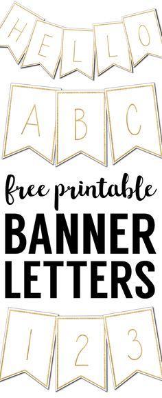 Adorable Free Printable MiniAlphabet Banner  Free Printable