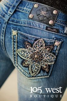 """Starry Night"" Miss Me Bootcut Jeans. Sizes 25 - 34 available. ~ 105 West Boutique located in Abbeville, SC. (864) 366-WEST. Shipping $5. Look for us on Facebook!"