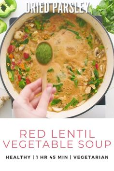 Learn how to make this Red Lentil Vegetable Soup recipe that is a healthy, hearty, satisfying meal in a bowl. Perfect for a weeknight meal served with crusty bread. This healthy soup is a quick easy meal to make and loaded with vegetables. It's a flavor packed soup perfect for lunch or a healthy dinner recipe. Naturally gluten free, and vegetarian friendly. Try this simple dinner recipe and more at Don't Waste the Crumbs. #healthyeasymeal #healthyeatingrecipes #healthyfood Lentil Vegetable Soup, Vegetable Soup Healthy, Vegetable Soup Recipes, Healthy Soup, Allergy Free Recipes, Vegetarian Recipes Easy, Healthy Eating Recipes, Real Food Recipes, Healthy Snacks
