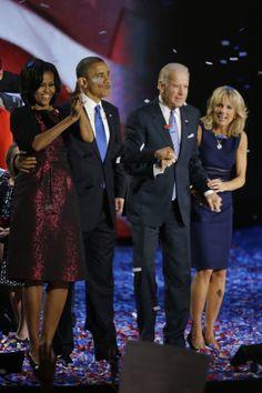 Michelle Obama,  Barack Obama, Joe Biden, Jill Biden