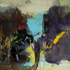 Moris GONTARD, Les calanques, 70 x 70 cm, huile et acrylique sur toile. http://www.galeriealaindaudet.fr/moris-gontard/