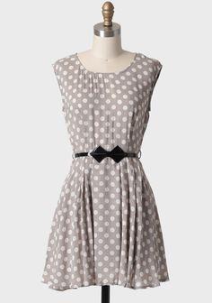 Love this dress for work. I'd pair it with a black or dark teal cropped blazer. Millie Polka Dot Belted Dress | Modern Vintage New Arrivals