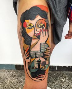 #tatuagens #vibrantes #cubismo #natureza