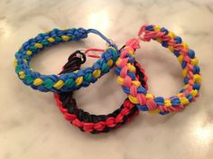 Rainbow Loom Double Braid bracelet from AllysBracelets. https://www.youtube.com/watch?v=D6xLDND9v8M