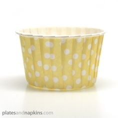 Soft Yellow Polka Dots Baking Cups or Candy Cups