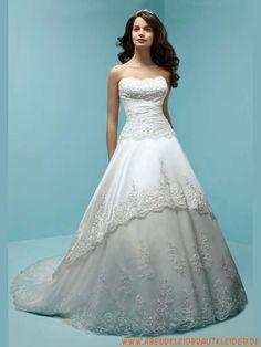 2013 Brautkleider mollige aus Satin mit Applikation A-Linie