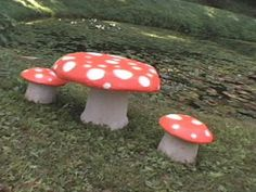 concrete garden mushrooms, how to make toadstool table and chairs easy crafts and homemade. Mushroom table and chairs how to make