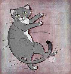 My cat, Shadow. I love her to bits, my furry bestie.