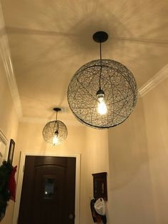 Set of Two Wire Sphere Original Pendant Lights & Bulbing Bloom Lamp | MoMA | Decor-ated | Pinterest | Apartments and ...
