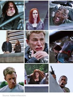 THEIR FACES /// I almost choked at Sam's face in the top right