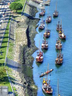 Rabelo boats, Porto by Rui Videira, Portugal