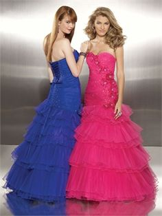 Ball Gown Sweetheart Beaded Tulle with flowers Prom Dress PD10509 www.dresseshouse.co.uk $118.0000