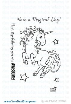 Your Next Stamp MAGICAL UNICORN Clear Stamp CYNS240 zoom image
