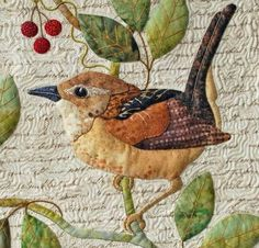 crazy quilting by hand Patchwork Quilting, Crazy Quilting, Quilting Ideas, Bird Applique, Embroidery Applique, Wool Applique Quilts, Embroidery Ideas, Applique Ideas, Embroidery Stitches
