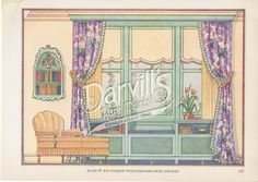 49-bay-window.jpg (1000×708) Decorative Draperies & Upholstery by Edward Thorne Descriptive text by Henry W. Frohne Publisher: Garden City Publishing Co., Inc., New York ---1937---