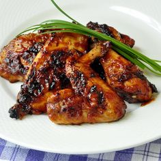 Honey Chili Barbeque Chicken - a sticky honey barbeque chicken glaze with chili con carne inspired spice flavors. A good bean salad would complete this meal nicely.