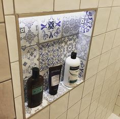 Buy Vintage Blu Decor Wall Tiles tiles from Tons of Tiles with Next Day UK Delivery, Samples Available from only inc P&P. Small Shower Room, Small Showers, Loft Bathroom, Metro Tiles, Vintage Tile, Wall Tiles, Pattern Design, Sink, Wall Decor