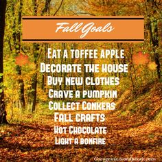 I decided to make a cute infographic of my Fall goals. Fall is my favourite season! Do you love Fall?