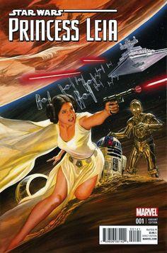 Galaxy Fantasy: Dos impresionantes cubiertas de comics, Star Wars: Princesa Leia realizadas por Alex Ross