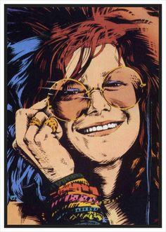 Mais de Bolsa Janis Joplin: led zeppelin, jimi hendrix, radiohead, the cure, the strokes Janis Joplin, Rock Posters, Band Posters, Concert Posters, Music Pics, Music Images, Pink Floyd, Arte Bob Marley, The Beatles
